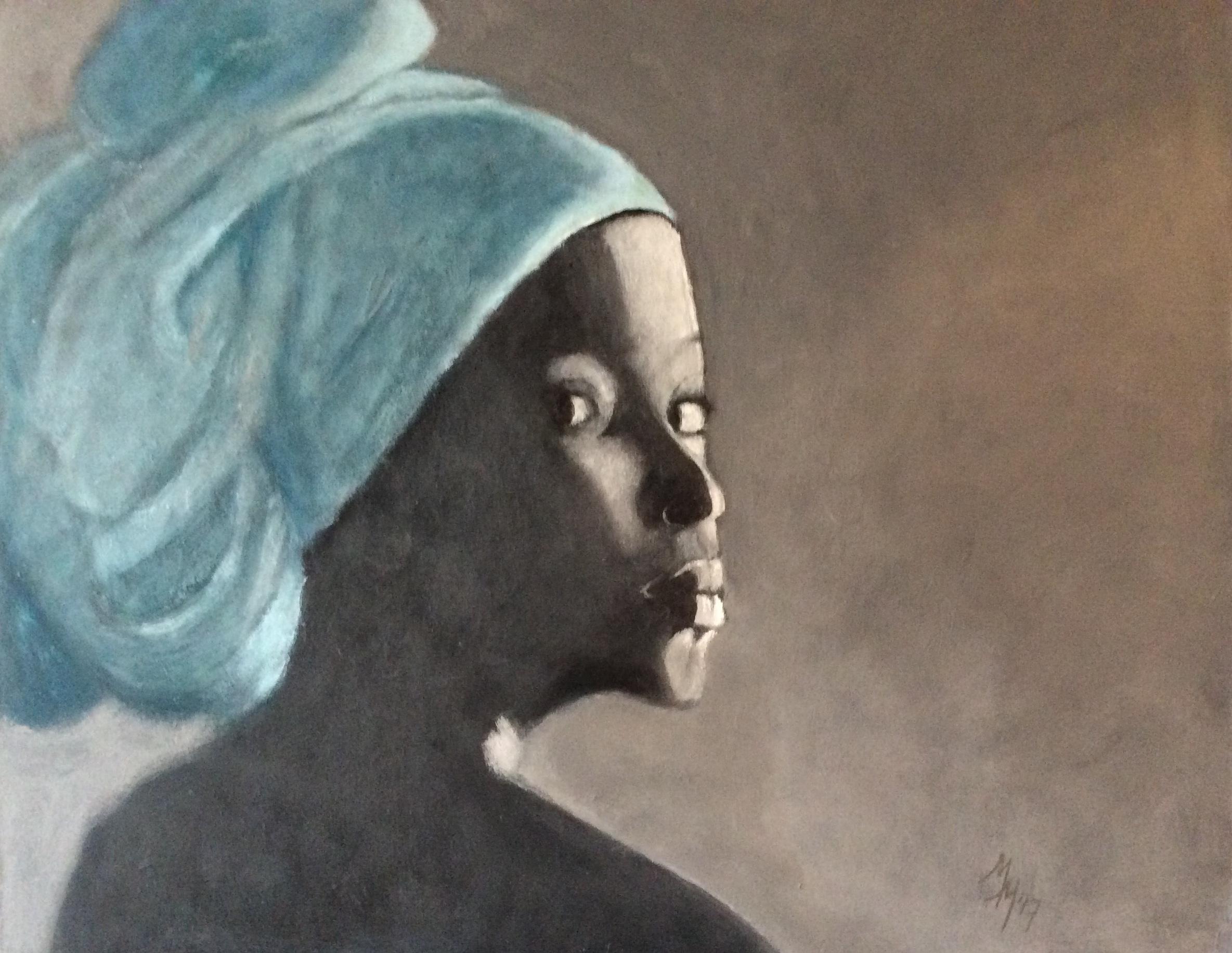 Josephine in acryl, 50x40 cm
